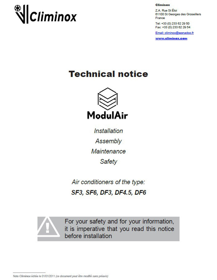 Technical notice ModulAir