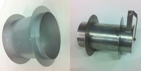 pass-through transfert tubes and check valves